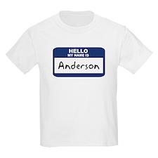 Hello: Anderson Kids T-Shirt