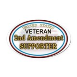 2nd amendment Oval Car Magnets