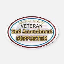 Funny 2nd amendment Oval Car Magnet