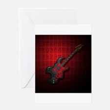 KuuMa Guitar 03 (R) Greeting Card