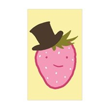 Strawberry In A Top Hat Decal