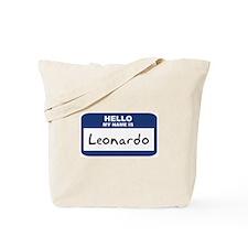 Hello: Leonardo Tote Bag