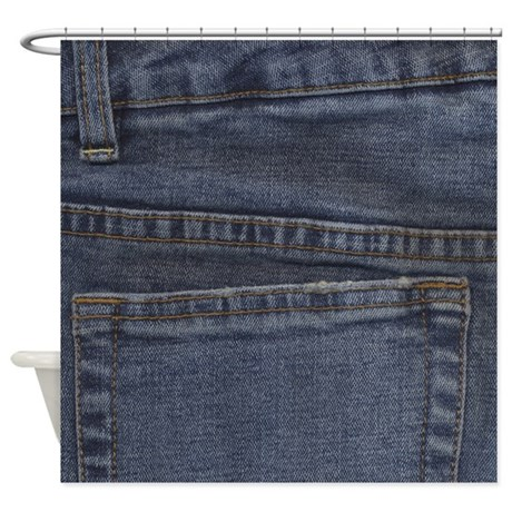 Denim Pocket Shower Curtain