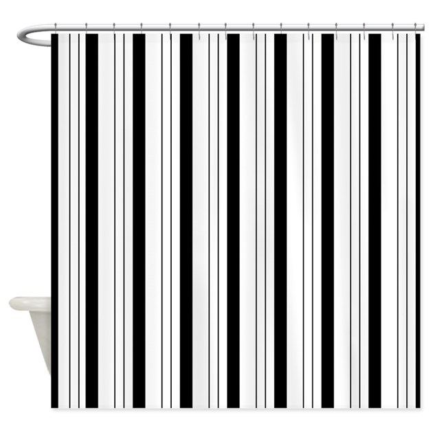 Black And White Stripes Shower Curtain By Be Inspired By Life