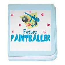Funny Paintball gun baby blanket