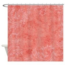 Pink Punch Abstract Floral Shower Curtain