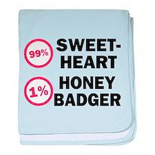 Sweetheart vs. Honey Badger baby blanket