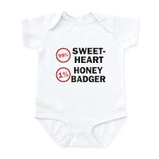 Sweetheart vs. Honey Badger Infant Bodysuit
