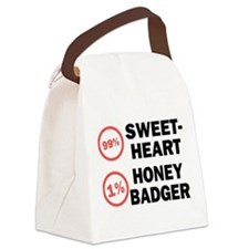 Sweetheart vs. Honey Badger Canvas Lunch Bag