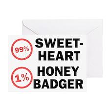 Sweetheart vs. Honey Badger Greeting Card