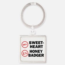Sweetheart vs. Honey Badger Square Keychain