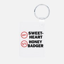 Sweetheart vs. Honey Badger Keychains