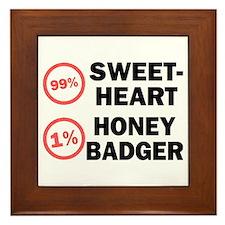 Sweetheart vs. Honey Badger Framed Tile