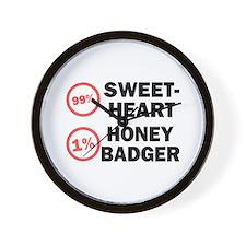 Sweetheart vs. Honey Badger Wall Clock