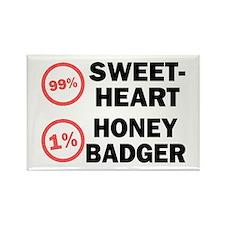 Sweetheart vs. Honey Badger Rectangle Magnet
