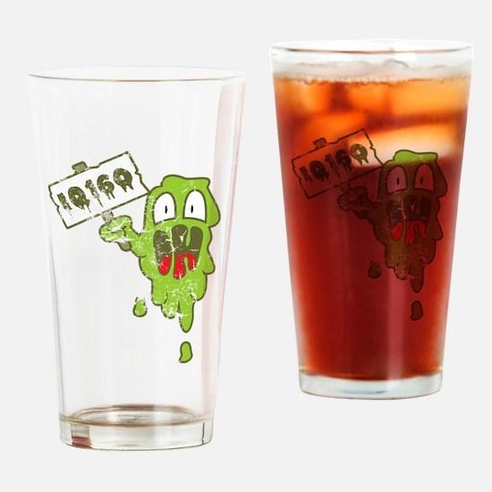 Kotze mit hohem IQ Drinking Glass