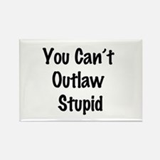 Outlaw stupid Rectangle Magnet