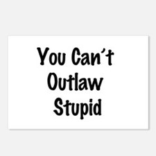 Outlaw stupid Postcards (Package of 8)