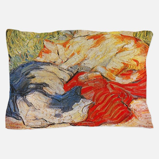 Cats on a Red Cloth Pillow Case
