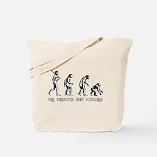 Pay Peanuts Get Monkeys Evolution Tote Bag