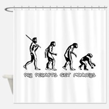 Pay Peanuts Get Monkeys Evolution Shower Curtain