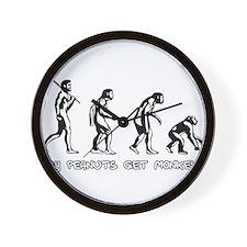 Pay Peanuts Get Monkeys Evolution Wall Clock