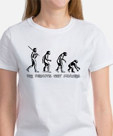 Pay Peanuts Get Monkeys Evolution T-Shirt