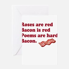 Bacon Poem Greeting Card