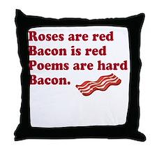 Bacon Poem Throw Pillow