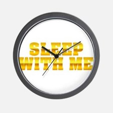 Sleep With Me Wall Clock