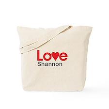 I Love Shannon Tote Bag
