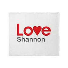 I Love Shannon Throw Blanket