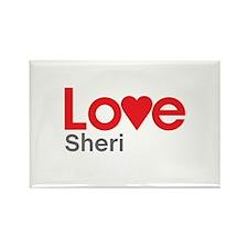 I Love Sheri Rectangle Magnet