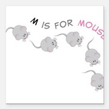 "Mouse Square Car Magnet 3"" x 3"""