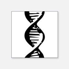 DNA Double Helix Symbol Rectangle Sticker