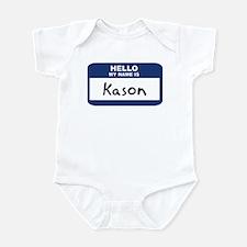 Hello: Kason Infant Bodysuit