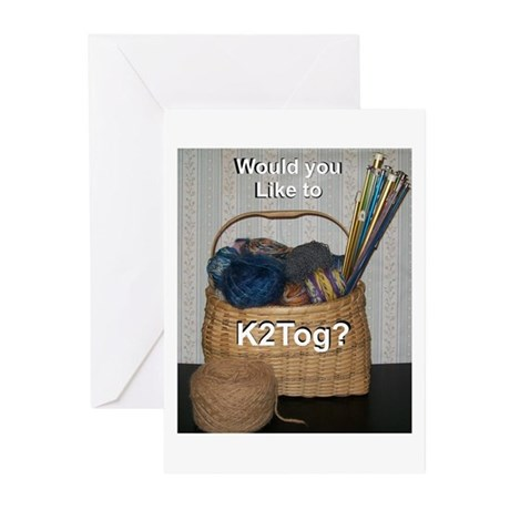 Would You Like To K2tog? Greeting Cards (Pk of 10)