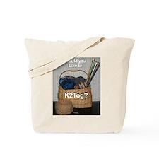 Would You Like To K2tog? Tote Bag