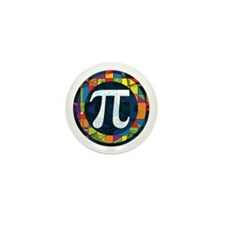 Pi Symbol 2 Mini Button (10 pack)