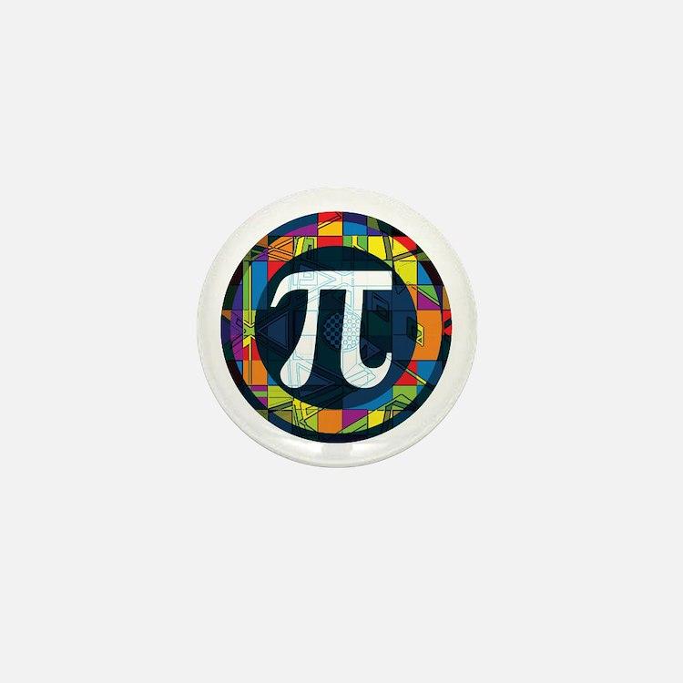 Pi Symbol 2 Mini Button (10 pack)