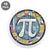 "Pi Symbol 3 3.5"" Button (10 pack)"
