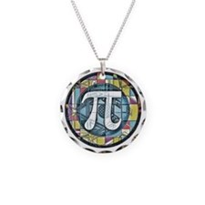 Pi Symbol 3 Necklace Circle Charm