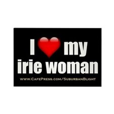 """Love My Irie Woman"" Rectangle Magnet"