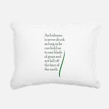 St. Patricks Day Quote Rectangular Canvas Pillow