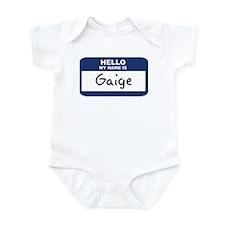 Hello: Gaige Infant Bodysuit