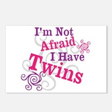 Im Not Afraid I Have Twins Postcards (Package of 8