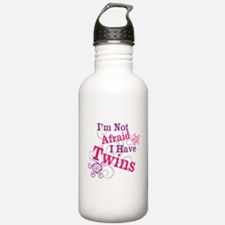 Im Not Afraid I Have Twins Water Bottle