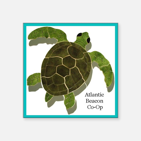 "Atlantic Beacon Co-Op Square Sticker 3"" x 3"""