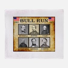 Bull Run (1st) - Union Throw Blanket