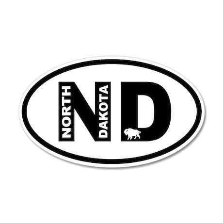 North Dakota Bison Wall Decal